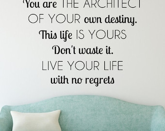Live Your Life Wall Quote Decal