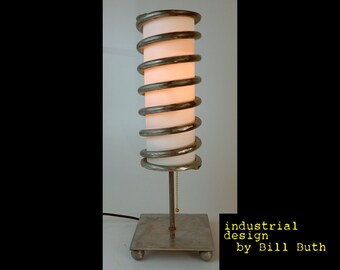 Industrial Handmade 'Upcycled' Car Spring Steel Steampunk Table Lamp