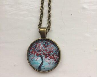 Blossom tree pendant necklace