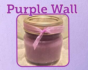 Purple Wall Sugar Scrub; Lavender and Vanilla sugar scrub