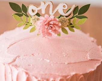 """5"""" Blooming Cake Topper"""