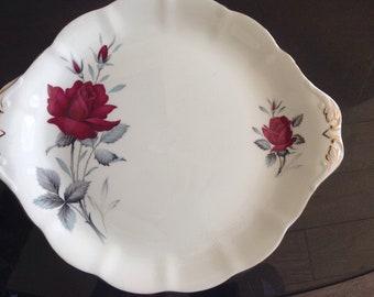 Royal Albert china cake plate double handled Sweet Romance