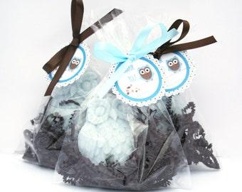 60 Owl Soaps Favors - Owl Baby Shower Favor - Bridal Shower Favor - Owl Wedding Favor - Owl Birthday Themed Party Favor - Bird Favor