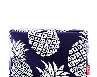 Monogrammed Personalized Make Up Bag Cosmetic Case Toiletry Bag Pineapple Print