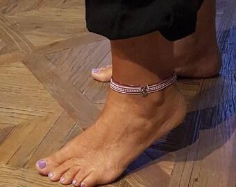 Pink ankle bracelet