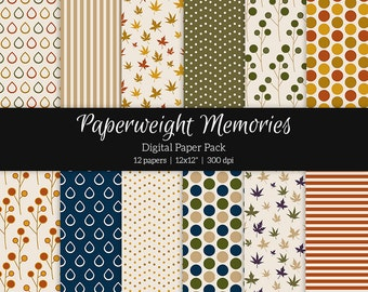 "Digital patterned paper - Memories of you -  digital scrapbooking - scrapbook paper - 12x12"" 300dpi  - Commercial Use"
