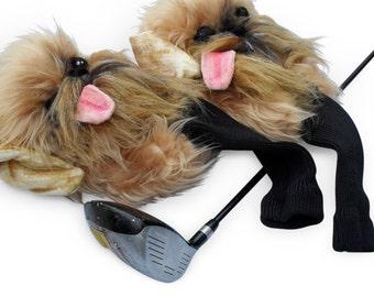 Brussels griffon Golf club head cover ,Custom  golf accessories