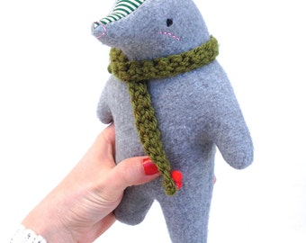 Dorian the Mole, plush mole, mole, mole stuffed animal, organic toy, organic baby, nursery, woodland animal, mr. mole, wind in the willows