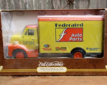 Ertl Federated Auto Parts 1953 Ford Delivery Van ~ New Old Stock Die Cast Model Metal Vehicle