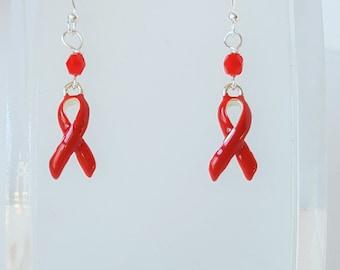 Red Ribbon Awareness Earrings