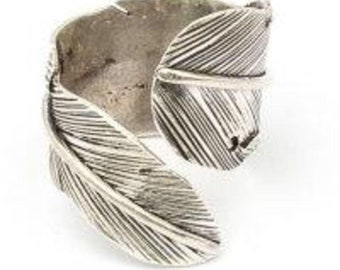 Silver Feather Wrap Ring (js-r-001)