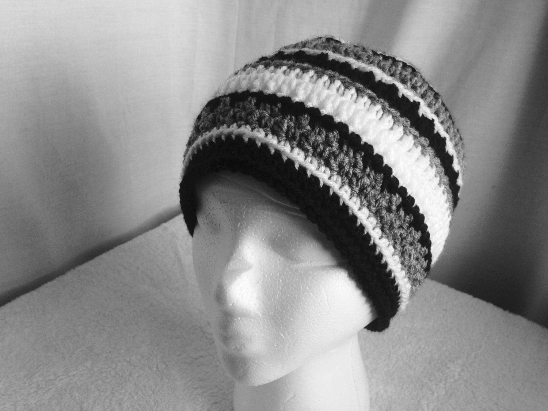 Crochet PATTERN - October Hat, easy crochet hat pattern, striped ...