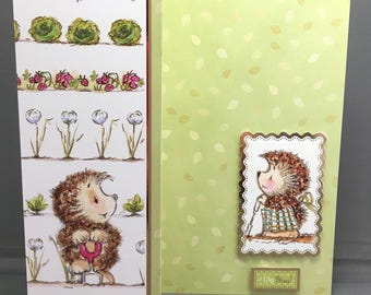 A Boy and Girl Hedgehog Digging In The Vegetable Patch I Dig You Card