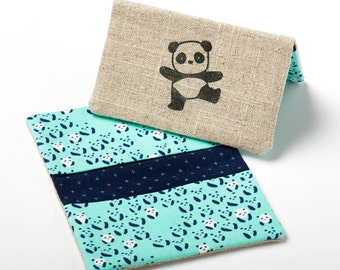 Credit Card Sleeve, Thin Wallet, Panda Wallet Card Holder - Panda Gifts / Cute Gifts for Girlfriend