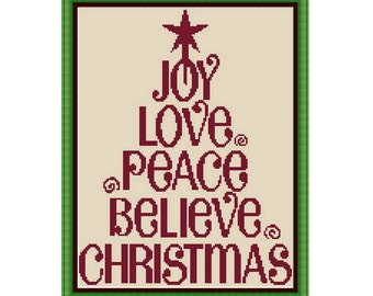 Christmas Cross stitch pattern ,Instant download PDF
