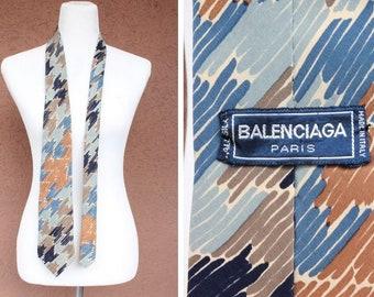 1980's Balenciaga Silk Tie - 80's Balenciaga