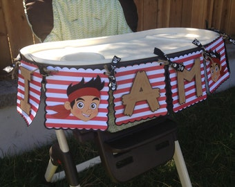 Jake and the Neverland Pirates Birthday High Chair Banner