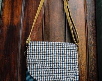 Olley & Farmer Upcycled Tweed Shoulder Bag