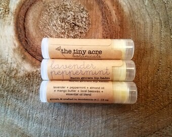 lavender peppermint || lip balm