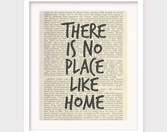 Living Room Decor, There is No Place Like Home, Printable Quote For House, Instant Download Art Print
