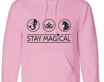 kids hoody STAY MAGICAL hoodie worldwide shipping unicorn mermaid princess girls