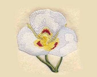 Sego Lily Tea Towel   Kitchen Towel   Embroidered Tea Towel   Personalized Dish Towel   Utah State Flower   Embroidered Kitchen Towel