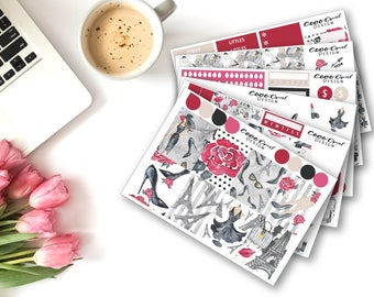PARIS FASHION STICKERS for the Erin Condren Planner Weekly Planner Sticker Kit Sticker Set Functional