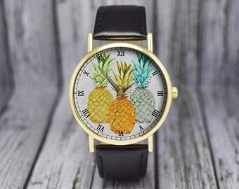 Pineapple Watch | Fruit Watch | Minimalist | Women's Watch | Ladies Watch | Gift for Her | Wedding Gift | Birthday Gift | Accessories