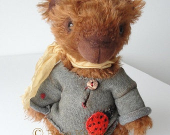 Hand made Collectable artist teddy bear stuffed animal OOAK Johnatan