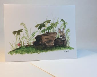 Woodland bunny notecards, set of 6