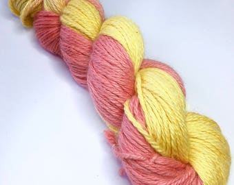 Hand-dyed Aran weight yarn, 100g, baby alpaca, silk, cashmere, Colour Refreshers