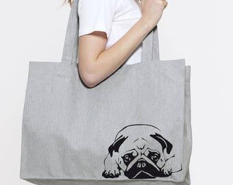 Mops Tote Mops Tote Bag Mops Shopping Bag Canvas Tote bag Canvas bag Mops Bag Mops Lover Gift Shopping Bag Dog Lover Gift pet tote bag