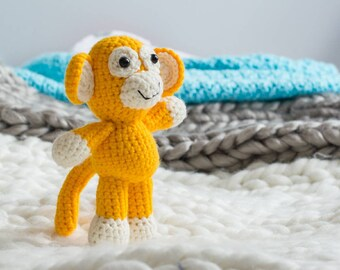 MADE TO ORDER Crochet Monkey, Monkey Stuffed Animal, Stuffy, Monkey Business, Sock Monkey, Kids Toy, Baby gift, baby shower, birthday gift