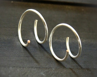 Tiny hoop earrings, small Silver hoops, sterling silver small hoop earrings, hoop earrings, everyday small earrings,