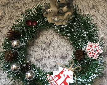 "10"" Christmas Table Wreath"