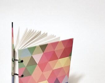 rainbow prism coptic stitch writing journal - rainbow journal - rainbow sketchbook - rainbow notebook -  colorful journal - LGBTQI+ journal