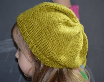 Little Girl Slouchy Beret Hat