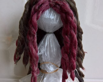 "Dreadlock YoSD BJD wig 6-7"" in Autumnal colours"