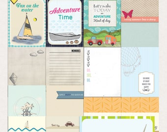 Summer Adventure Journal Cards - Instant Download - Printable journaling cards for Project Life and digital scrapbooking