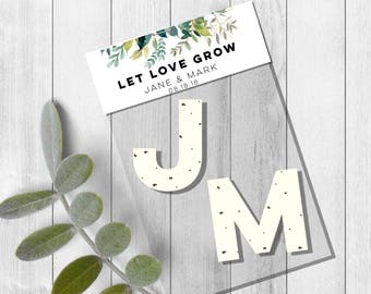 Plantable heart seed packets-plantable paper wedding favors-plantable seed paper-wedding Seed favors-plantable wedding favors-seed bomb