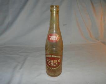 Double Cola Bottle - Vintage Clear Glass Soda Pop Advertising Bottle - Collectible Seminole Flavor Co.Bottle - 12 Fl. Oz. Bottle       22-12