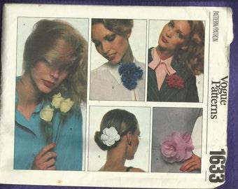 jaren 1970 Vogue 1633 stof bloemen patroon het perfecte accessoire ONBESNEDEN