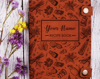 Custom recipe book with your name - Personalized cookbook - notebook recipes - recipe notebook - Custom cook book - Blank Recipe Book