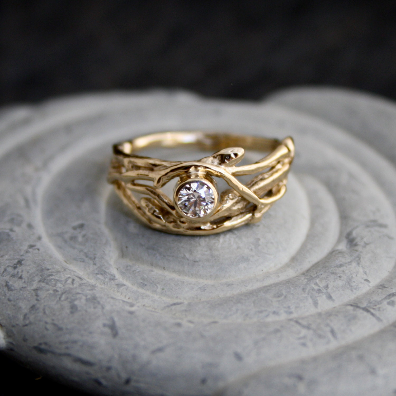 and ring yellow awesome wedding engagement set luxury twig gold of rings