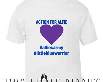 Alfie's Army Charity Fundraising Baby/Toddler T-shirts Profits go to Alfie Evans fund me Campaign #alfiesarmy #littlebluewarrior