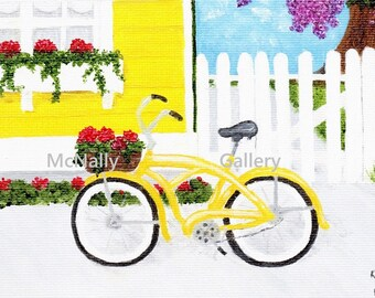 """Note Card """"Summer on Mackinac Island""""Beautiful flowers, buildings and no cars!"""