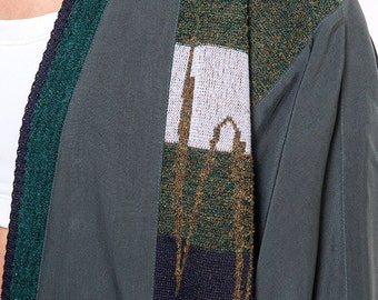 The Vintage Silk Forest Green Wrap Cardigan