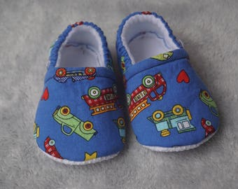 Transportation booties, slippers, crib shoes, shoes