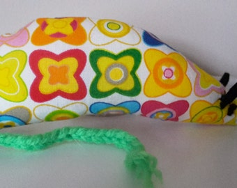 Catnip Mouse - Funky Multicoloured Floral design- Cat Toy