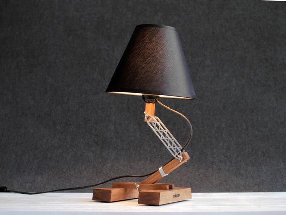 Wood lamp industrial table lamp bedside lamp modern table te gusta este artculo aloadofball Images